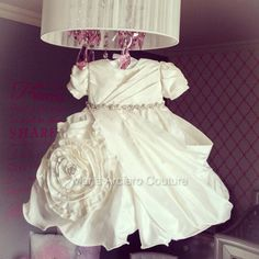 Baby girl Baptism Dress by MariaArcieroCouture on Etsy