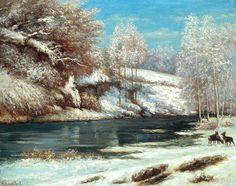 Gustave Courbet - Winter Landscape, 1866