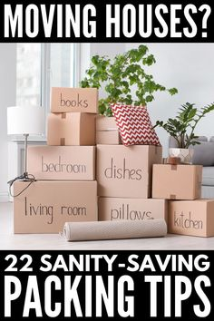 Packing Tips for Moving: 22 Tricks for a Stress-Free Move Moving House Tips, Moving Home, Moving Day, Moving Tips, Moving Hacks, Unpacking After Moving, Unpacking Tips, Moving Clothes, Organizing For A Move