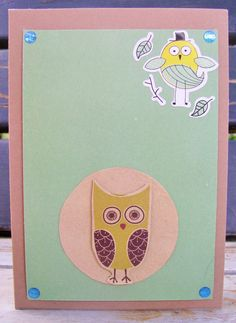 Shop for cards on Etsy, the place to express your creativity through the buying and selling of handmade and vintage goods. Owl Card, Awesome, Unique Jewelry, Handmade Gifts, Green, Cards, Etsy, Vintage, Kid Craft Gifts