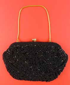 Vintage Black Bead and Sequins Clutch with by PINKYSOFSARATOGA, $32.00