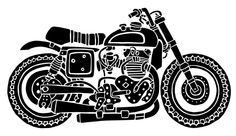 motorcycle illustration on Behance
