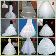 9 Style A Line/Hoop/Hoopless Super Big Wedding Crinoline Petticoat Underskirt Bridal Accessories Petticoat Crinoline Petticoat Fabric From Dolphinbay, $9.03  Dhgate.Com