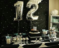 Create your perfect party with various decorations like the picture below!Choose from some of plain and themed birthday party decorations including banners, bunting, paper decorations, pom poms,baloon and more. 12th Birthday, Halloween Birthday, Girl Birthday, Birthday Party Decorations, Birthday Parties, Star Wars Party, Decoration Table, Diy Party, Party Ideas