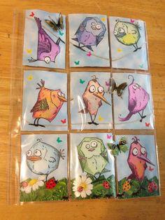 Crazy Birds Pocket Letter