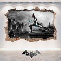 🥇 Vinilos 3D agujero pared mortal kombat scorpion Batman Arkham City, Bookends, T5, Mortal Kombat, Painting, Home Decor, Frames, Decorating Bedrooms, Decorate Walls