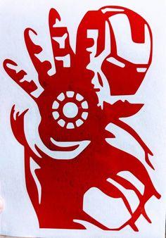 Avengers Infinity War Ironman Vinyl Decal for Car, Home, Laptop, Yeti – FTW Custom Vinyl Marvel Drawings, Art Drawings, Iron Man, Avengers Painting, Pumpkin Stencil, Silhouette Art, Vinyl Decals, Decals For Cars, Wall Vinyl