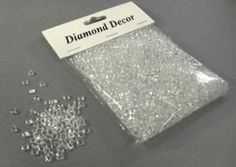 Crystal diamond decor bag, Diamond Confetti Accents
