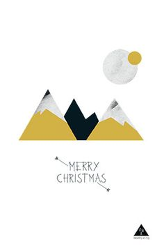 Christmas Card- Mountain - Set of 3 cards 3.94 x 5.90 in (photography illustration)