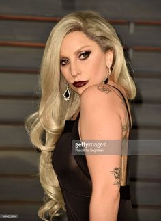 Recording artist Lady Gaga attends the 2015 Vanity Fair Oscar Party hosted by Graydon Carter at Wallis Annenberg Center for the Performing Arts on February 22, 2015 in Beverly Hills, California.  (Photo by Pascal Le Segretain/Getty Images)