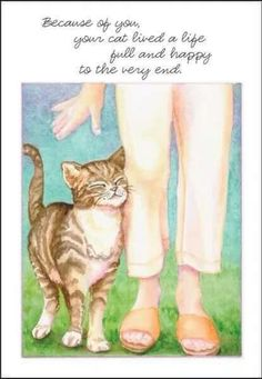 """""""Because of you, your cat lived a life full and happy to the very end."""" ♡♡♡♡♡"""