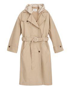 Nanushka DAKOTA - trench coat with hoodie Mac, Beige Trench Coat, Personal Style, Hoodies, How To Wear, Jackets, Shopping, Andy Heart, Design