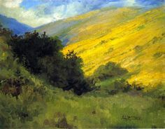 Abby Williams Hill Niguel Canyon: Wild Mustard - The Largest Art reproductions Center In Our website. Low Wholesale Prices Great Pricing Quality Hand paintings for saleAbby Williams Hill Nature Paintings, Landscape Paintings, Watercolor Paintings, Abstract Landscape, Abstract Art, Oil Pastel Landscape, Painting Inspiration, Art Inspo, Environment Concept Art
