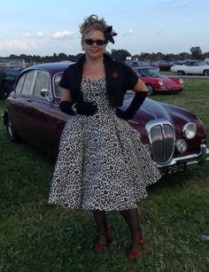 Vivien of Holloway halterneck circle dress in white leopard