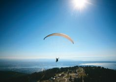 paragliding off grouse mountain (vancouver)
