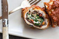 Chicken Rolls with Prosciutto, Spinach, and Mozzarella Cheese - http://www.cheesecutterscorner.com/chicken-rolls-with-prosciutto-spinach-and-mozzarella-cheese/