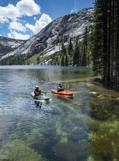 Kayaking the Merced River in Yosemite National Park.