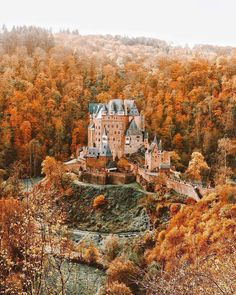 myfairylily ♛ A wHiMSiCaL RomAnCe ♛ — Burg Eltz in Autumn colours, Germany Oh The Places You'll Go, Places To Travel, Travel Destinations, Places To Visit, Beautiful Castles, Beautiful Places, Autumn Aesthetic, Jolie Photo, Adventure Is Out There