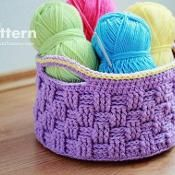 Big Crochet Basket 009 - via @Craftsy