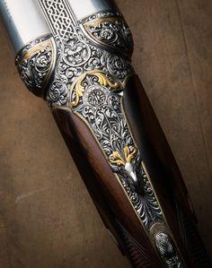 Nitro Express, Gun Art, Shooting Guns, Custom Guns, Double Barrel, Metal Engraving, Hunting Rifles, Firearms, Shotguns