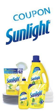 Coupon pour les produits Sunlight. http://rienquedugratuit.ca/coupons/coupon-pour-les-produits-sunlight/