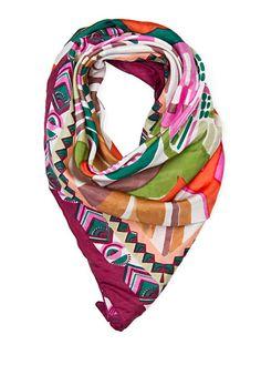 MANGO - TOUCH - Printed silk scarf