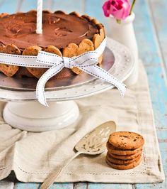Tarta de cumpleaños: Tarta de chocolate con galletas