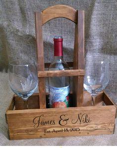 ВИНО Lover Подарок Деревенское Wood ВИНО Caddy Wine от AbsoluteImpressions