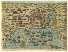 Vista de Santo Domingo en estado de sitio, 1585-1586 — Visor — Biblioteca Digital Mundial