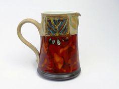 Jug Earthen pitcher. Pottery pitcher. Wheel by DankoHandmade