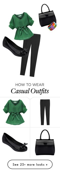"""Simple green work casual"" by laurajanet on Polyvore featuring White House Black Market, Melissa, Encanto, women's clothing, women, female, woman, misses and juniors"