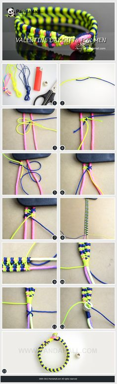 Here is a tutorial related to the coming-up Valentine's Day; shown below is the full instructions about how to make bracelet out of string, which will help you figure out what are the proper valentine's day gifts for men.