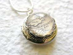Game of Thrones Silver tone Map Petite Locket  - King's Landing, The Wall, Winterfell or Choose your Landmarks. $22.00, via Etsy.