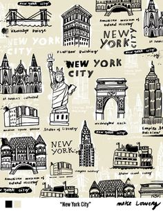 NYC illustrations. by lilia rogers studio.