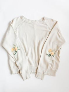 The Great - The College Sweatshirt in Yellow Flower