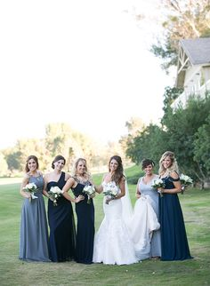 An ombre navy color scheme decorated this stunning Temecula Canyon Wedding from the bridesmaid dresses to the stationery