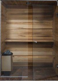 All Glass Sauna Door - Home Decorating Ideas Home Spa Room, Spa Rooms, Sauna Steam Room, Sauna Room, Mini Sauna, Basement Sauna, Scandinavian Saunas, Sauna Design, Design Design