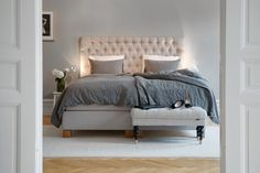Bedroom: White + Beige + Gray