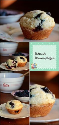 Supermoist Buttermilk Blueberry Muffins are full of old fashioned goodness. SO easy! From RestlessChipotle.com