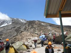 Day 6 - View up Kilimanjaro summit route...