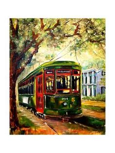 2011 New Orleans St Charles Streetcar by Diane Millsap oil painting for sale; Select your favorite 2011 New Orleans St Charles Streetcar by Diane Millsap painting on canvas and frame at discount price. Louisiana Art, New Orleans Louisiana, New Orleans Art, Framed Artwork, Wall Art, Framed Canvas, Framed Wall, Diane, Painting Inspiration