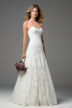 Designer: Wtoo Style: Soleil. Available at Bliss Bridal in Wisconsin. www.blissbridalonline.com