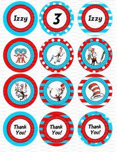 Dr. Seuss Birthday Party Circles