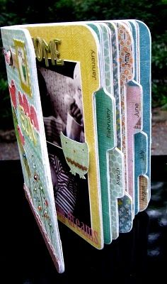 Love This Gift Idea :) Baby Album - Great gift idea. Create a scrapbook page for each month of the year. The recipient just has to add a picture each month. Such a cute idea!