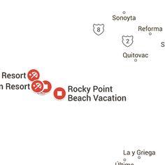 Rocky Point Mexico, Arizona's Beach Rocky Point Beach, Driving Directions, View Map, Maps, Arizona, Mexico, Renovation, Cards, Map