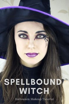 Spellbound Witch - Halloween Makeup Tutorial – Cupful of Sprinkles D. - Spellbound Witch – Halloween Makeup Tutorial – Cupful of Sprinkles Dark, pointed eyel - Costume Halloween, Halloween Makeup Witch, Witch Costumes, Halloween Makeup Looks, Witch Makeup For Kids, Scary Halloween, Scary Witch, Pagan Witch, Halloween Stuff