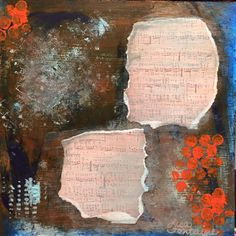Mixed Media on Wood by Lisa Fontaine.  Acrylic Paint.  Musc.