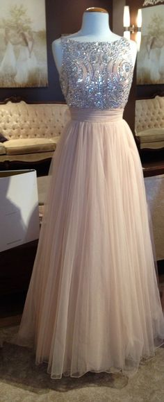 Cute pink tulle modest prom dress for teens, homecoming 2016