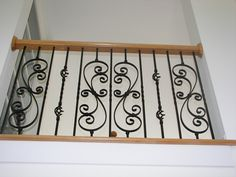 View pictures of custom staircases remodeled with iron balusters Stairs Balusters, Stair Banister, Iron Staircase, Iron Balusters, Banisters, Staircase Design, Staircases, Banister Remodel, Interior Stair Railing