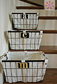 Stair Buckets: This is one of our favorite organization tips for homes that are multi level! Get this and more spring cleaning tips here! #HTCleanSpring